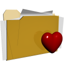 folder favorite love heart actions  iconizer
