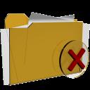 folder remove delete close actions  iconizer