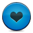 blue button heart icon