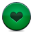 button green heart icon