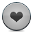 button grey heart icon