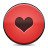 button heart red icon