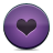 button heart violet icon