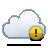 alert cloud icon