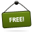 free green sign icon