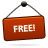 free red sign icon