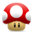 mario mushroom super icon