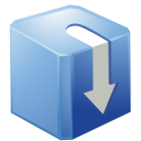 download box blue