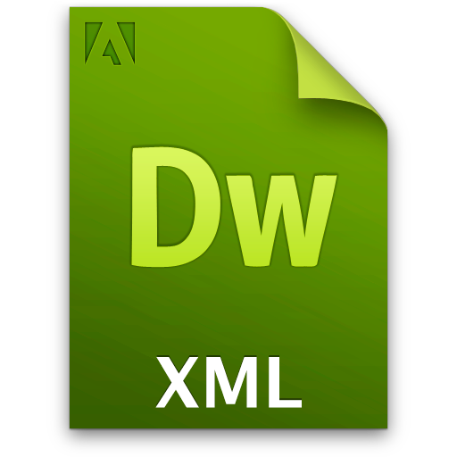 doc document file xml icon