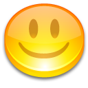 button face good happy smile yellow icon