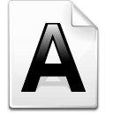 a file font letter icon