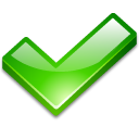 check ok on select yes icon