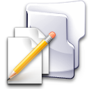 documents folder pen write icon
