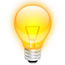 idea light bulb tip icon