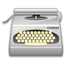 package typewriter wordprocessing icon