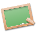 black board learn table teach tutorials icon