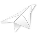 folded paper plane icon