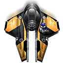 fighter spaceship icon