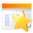 appointment bookmark calendar star icon