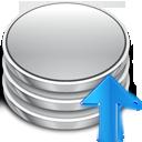 arrow commit database up upload icon
