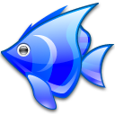 animal blue fish icon