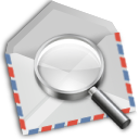 airmail envelope find mail search icon