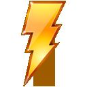bolt lightning power quick restart icon