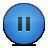 button pause blue