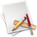 application art brush file pencil ruler icon