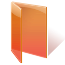 folder open orange icon