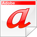 a adobe font letter type icon