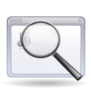 application enlarge find magnifying glass search zoom icon
