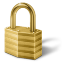 gold lock lock login padlock password secure security icon