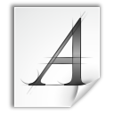 a application font letter type icon