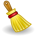 broom brush clear sweep icon