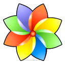 browser color flower icon