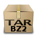 application bzip compressed mime tar x icon