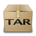 application compressed mime tar x icon