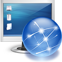 internet monitor online screen icon