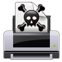 crossbones dead error poison print printer skull icon