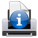attention information print icon