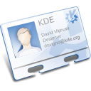 contact kde vcard icon
