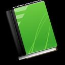 книга зеленый значок