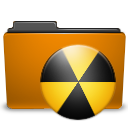burn folder orange icon