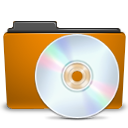 cd folder orange icon