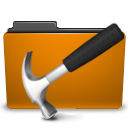 development folder orange icon