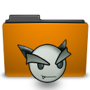 deviantart folder orange icon