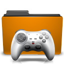 folder games orange icon