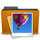 folder image orange picture icon