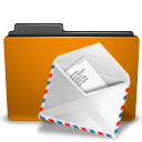 folder mail orange icon